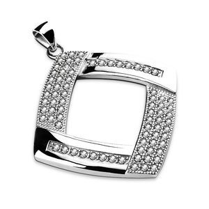 New stainless steel gem paved Pendant
